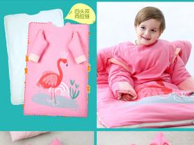 婴儿睡袋儿童春秋冬季冬款纯棉四季通用