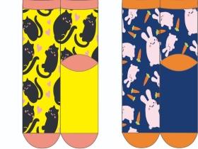 可爱动物潮袜设计