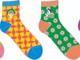 个性混搭图案潮袜设计