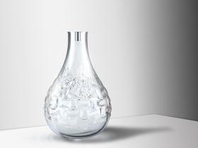 欧式花纹玻璃瓶