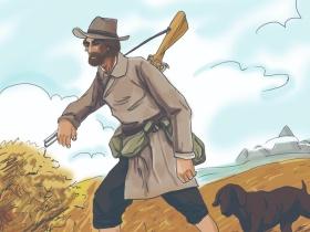 图书封面插画设计《猎人笔记》