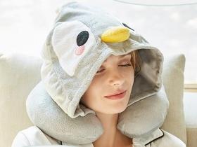 小企鵝卡通乳膠U型枕
