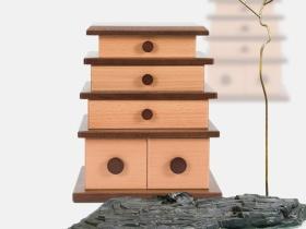 日式建筑首饰盒
