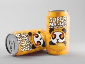 芒果易拉罐可爱风设计