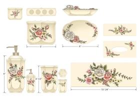 玫瑰花卫浴组用品