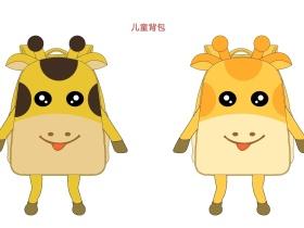 卡通长颈鹿儿童背包
