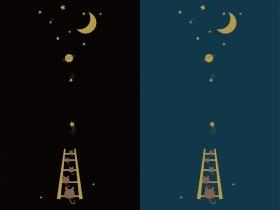 简约萌趣卡通摘星主题2020雨伞图案设计