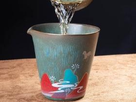 陶瓷彩绘茶杯