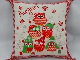 圣誕節貓頭鷹抱枕