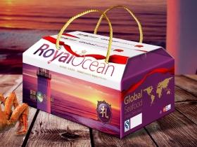 皇家领海海鲜产品整体形象包装设计