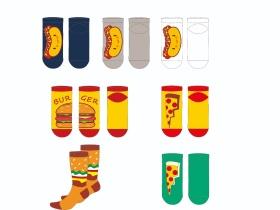 食物图案潮袜设计
