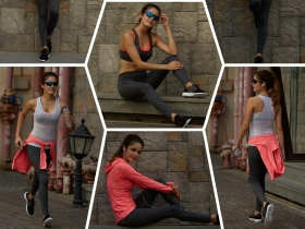 女士健身瑜伽運動套裝