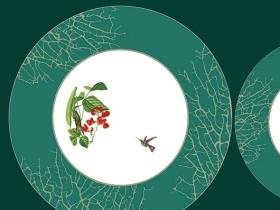 欧式花鸟  陶瓷花纸