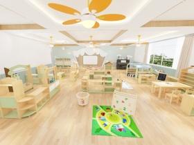 幼儿园活动休息室实木家具组合