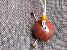 陶瓷飾品蘑菇小掛件
