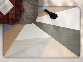北欧时尚莫兰迪色调几何地垫展示