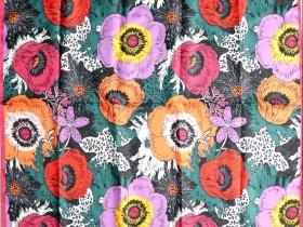 《生如夏花》数码印花方巾设计