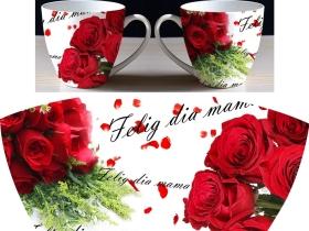 玫瑰花陶瓷杯花纸