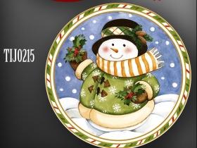 陶瓷花纸设计圣诞主题