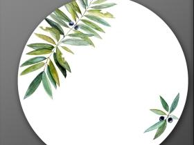 手绘叶子陶瓷花纸设计