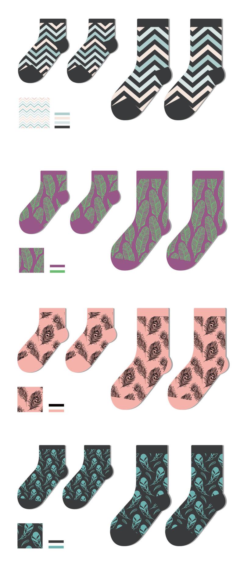 春夏袜子设计