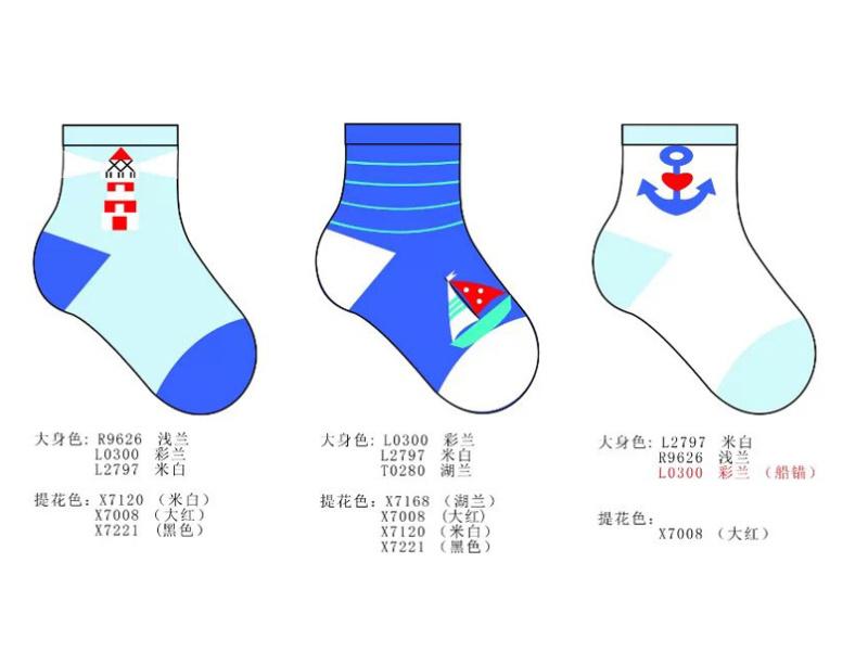 卡通嬰兒童襪設計