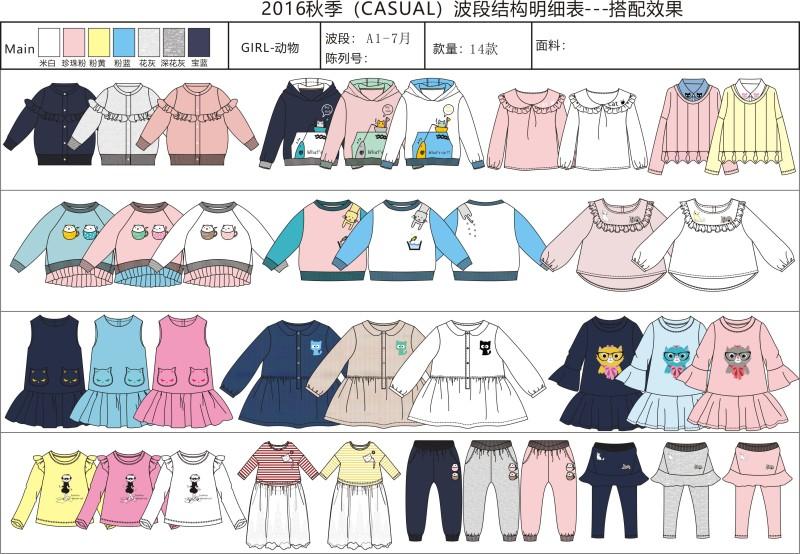 女童秋装动物主题系列