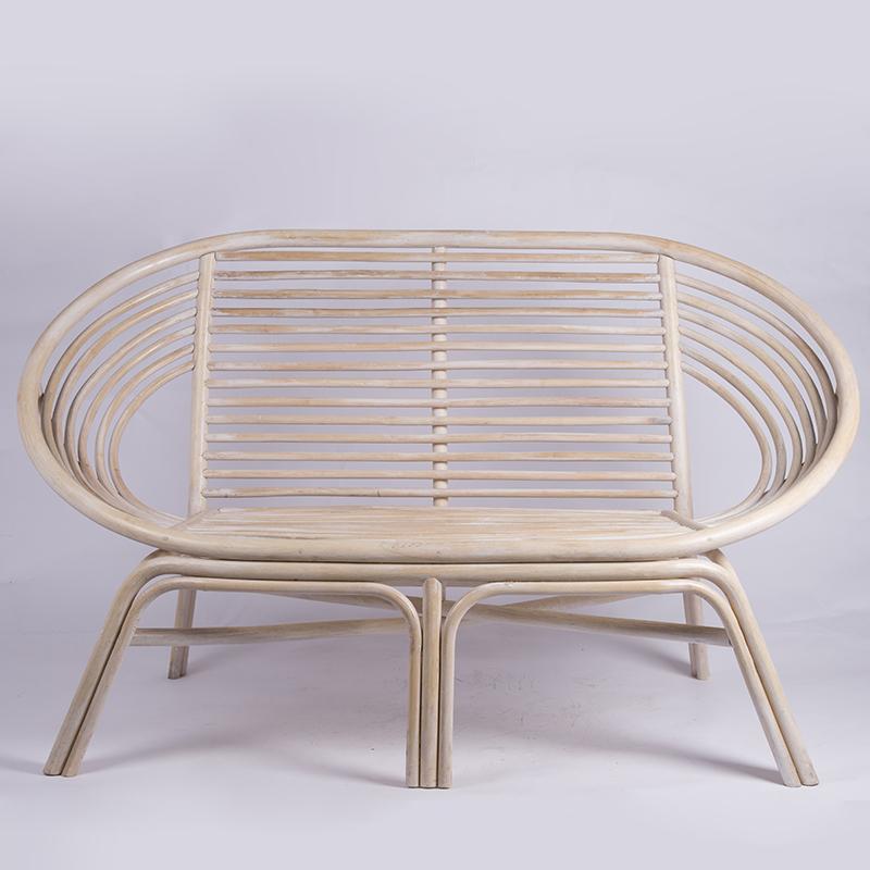 欧美藤制家具双人藤椅