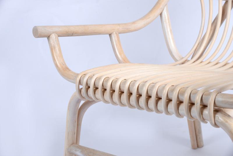 北欧藤制品单人扶手藤椅