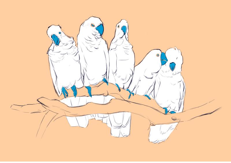 蓝手套插画