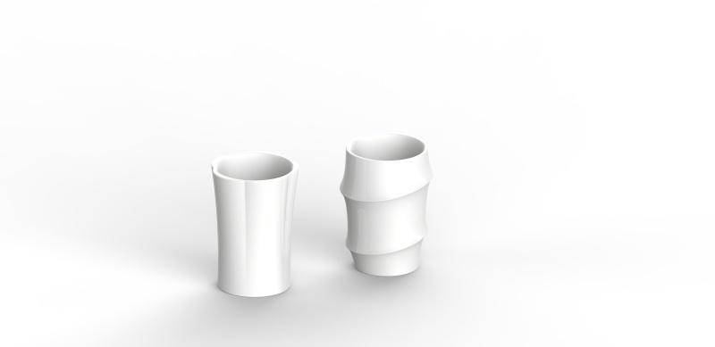 陶瓷《青梅竹馬》水杯