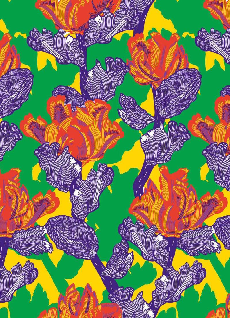 中式花纹花卉图案设计