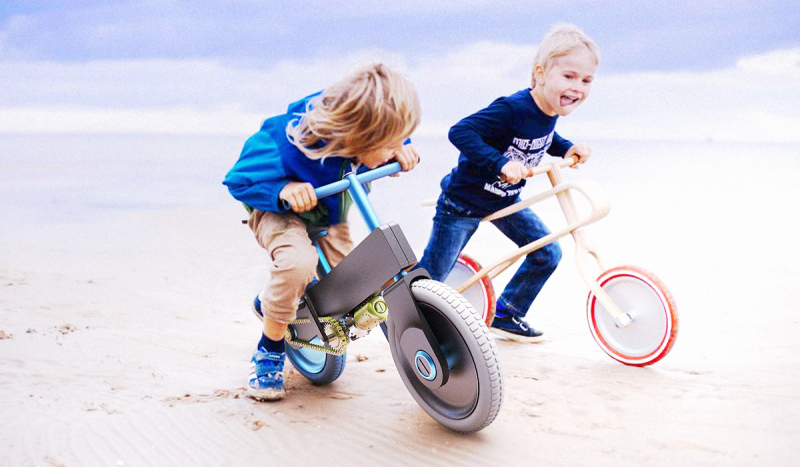 儿童电动车自行设计
