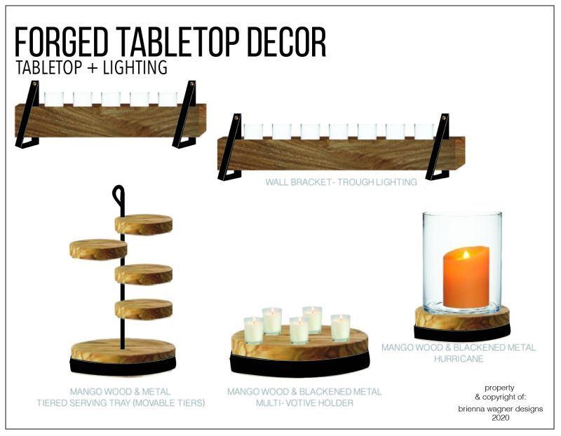 鍛造桌面裝飾和燈具