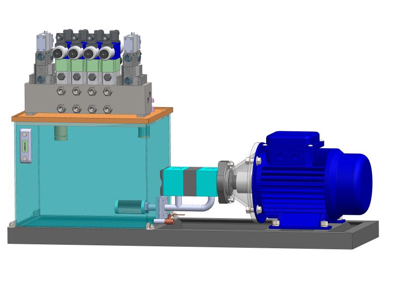 液压站设计建模