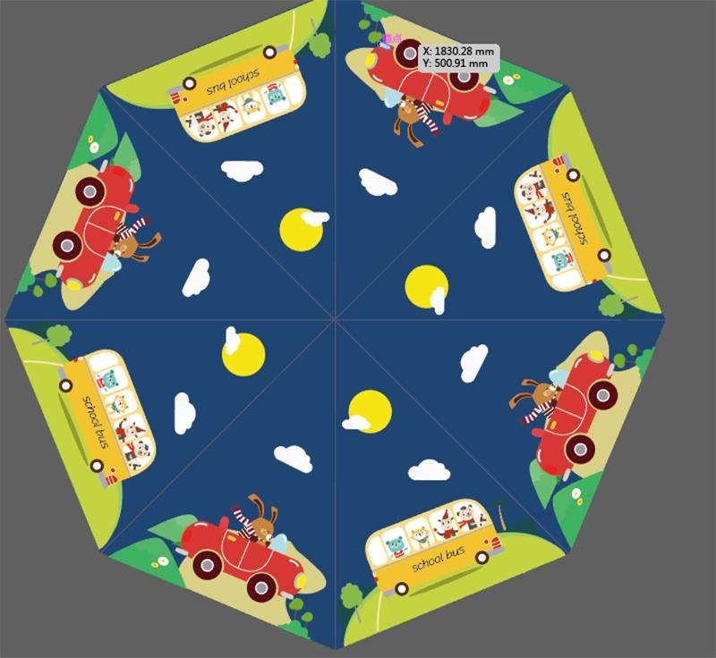 兒童雨傘圖案