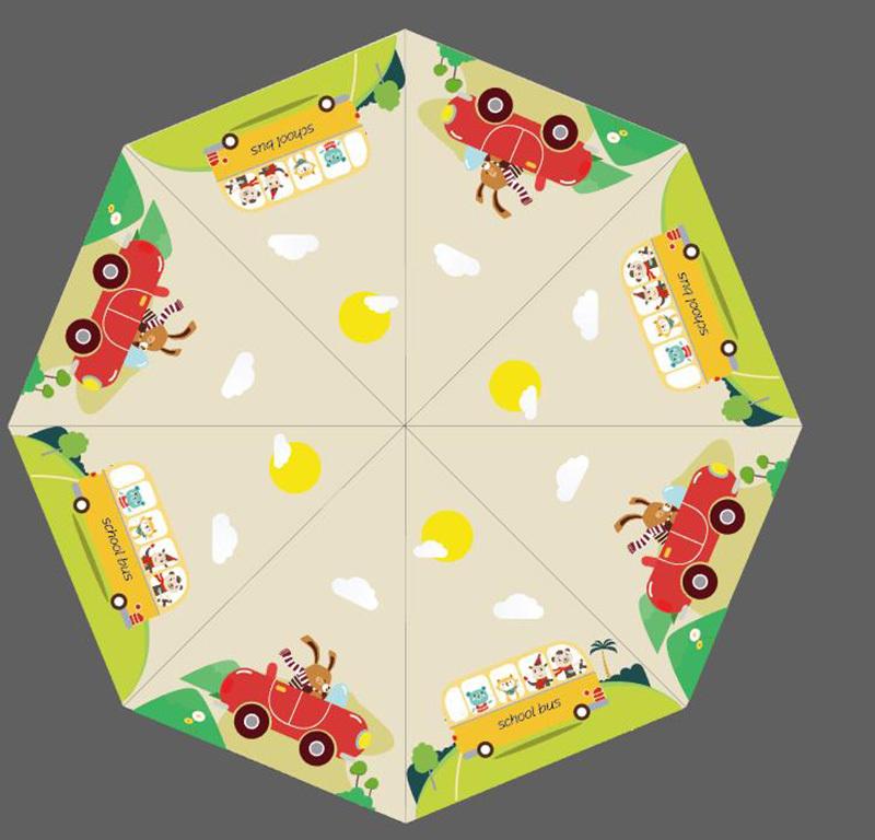儿童雨伞图案