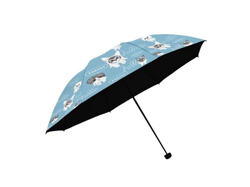 喵星人黑胶遮防紫外线太阳伞