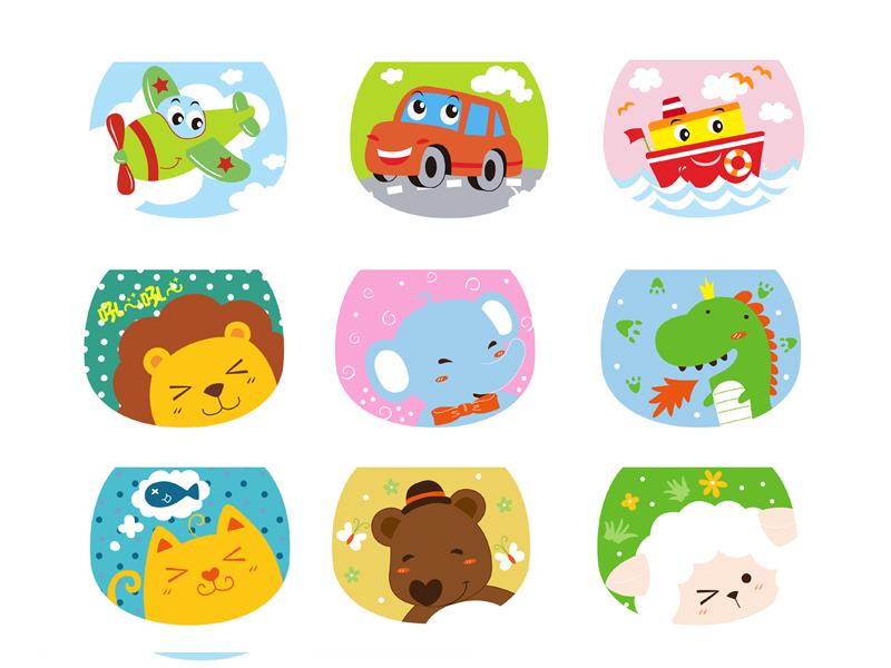 卡通儿童动物吸汗巾