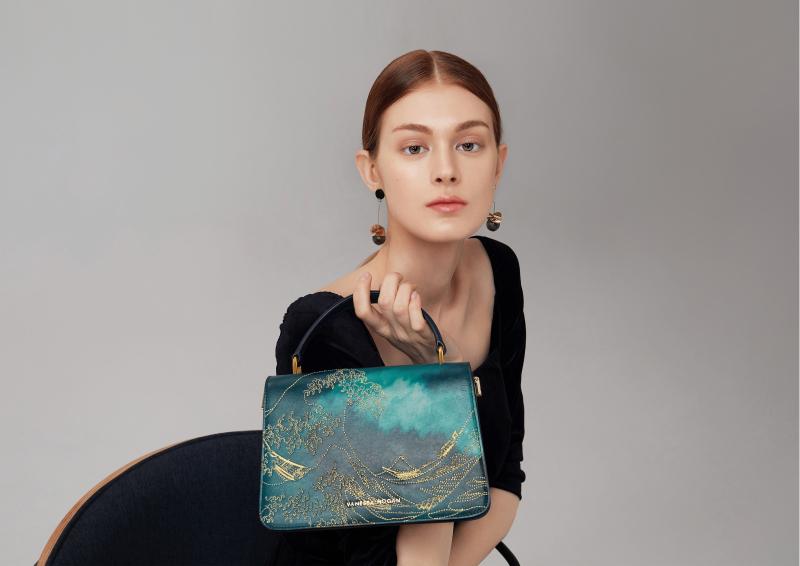 深海系列刺绣女包