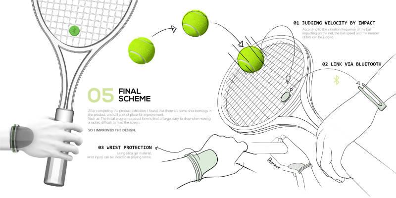智能網球避震器