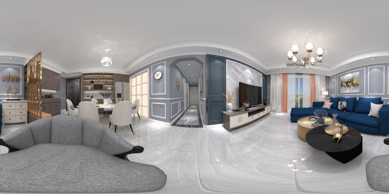灰色調簡歐客廳