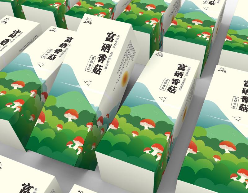 富硒香菇包装设计稿