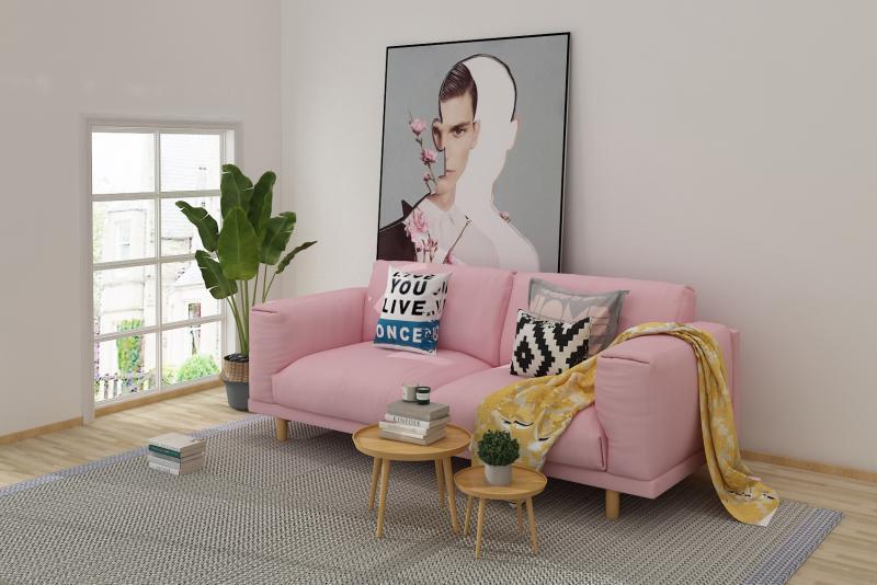 北欧简约现代布艺沙发