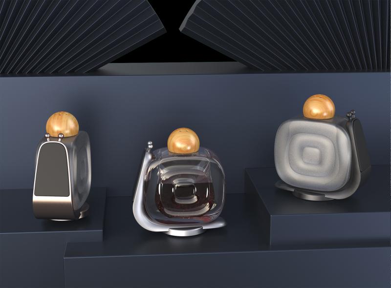 桌面车载香水蜗牛磁吸支架