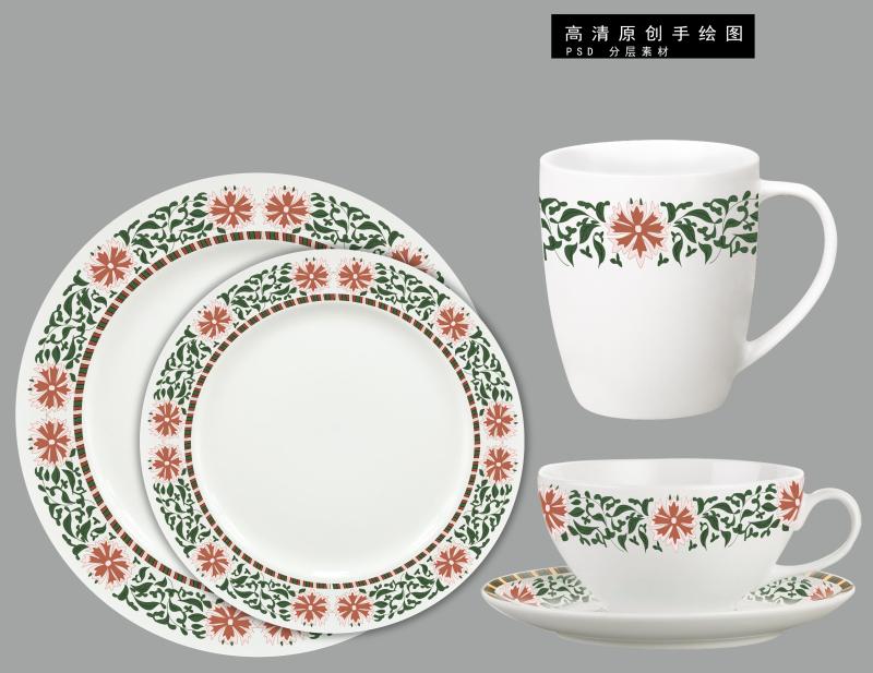 古典中国风陶瓷花纸