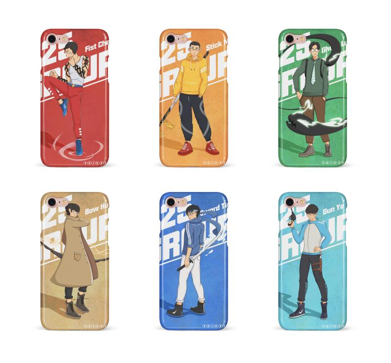 手機殼設計——人物插畫