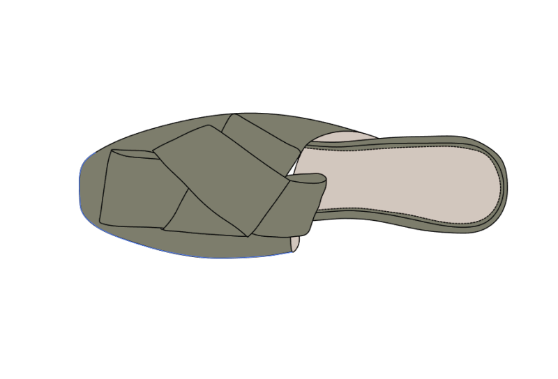 几何蝴蝶结造型沙丁布时尚拖鞋