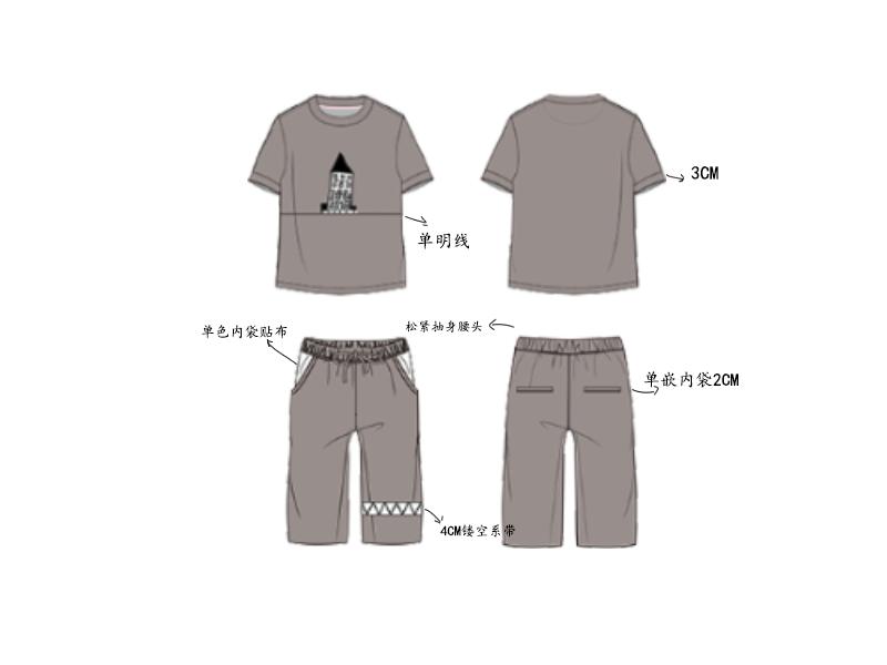 男童夏季短袖短裤套装