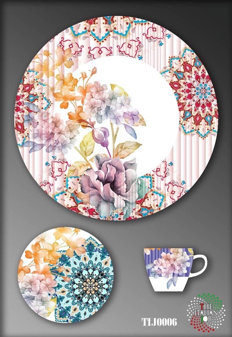 陶瓷花卉图案设计